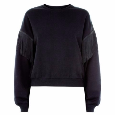 black-fringe-sleeve-sweater